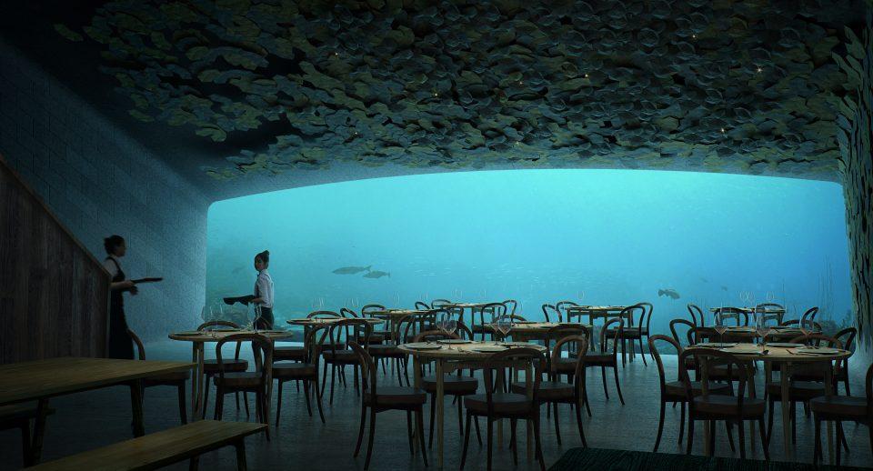 欧洲第一家水下餐厅终于建成,实景空间首曝光